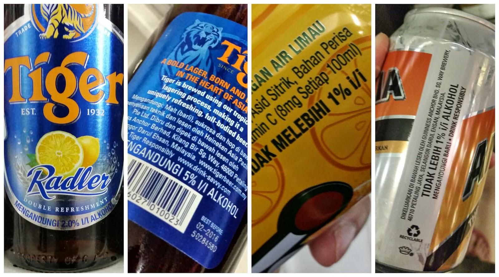 Angeltini The Booze Blog Tiger Beer Vs Tiger Radler Whats The