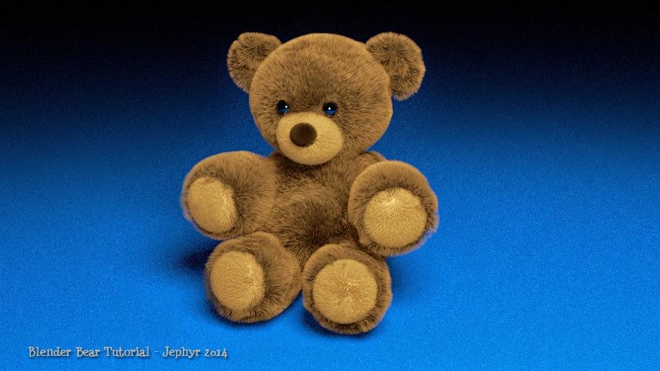 """Blender """"Stuffed Bear"""" Tutorial:  Jephyr 2014"""