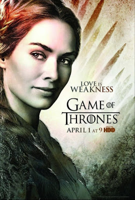 "Game of Thrones Season 2 Character Television Posters - ""Love Is Weakness"" - Lena Headey as Cersei Lannister"