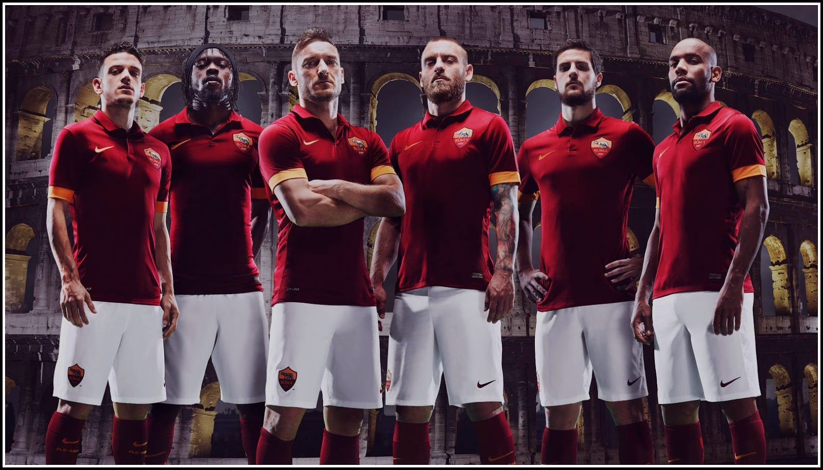 Walpapper AS Roma 14-15 Home Kit
