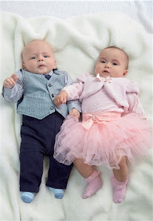 Baby Girls 3-Piece Tutu Set & Boys 3-Piece Formal Set