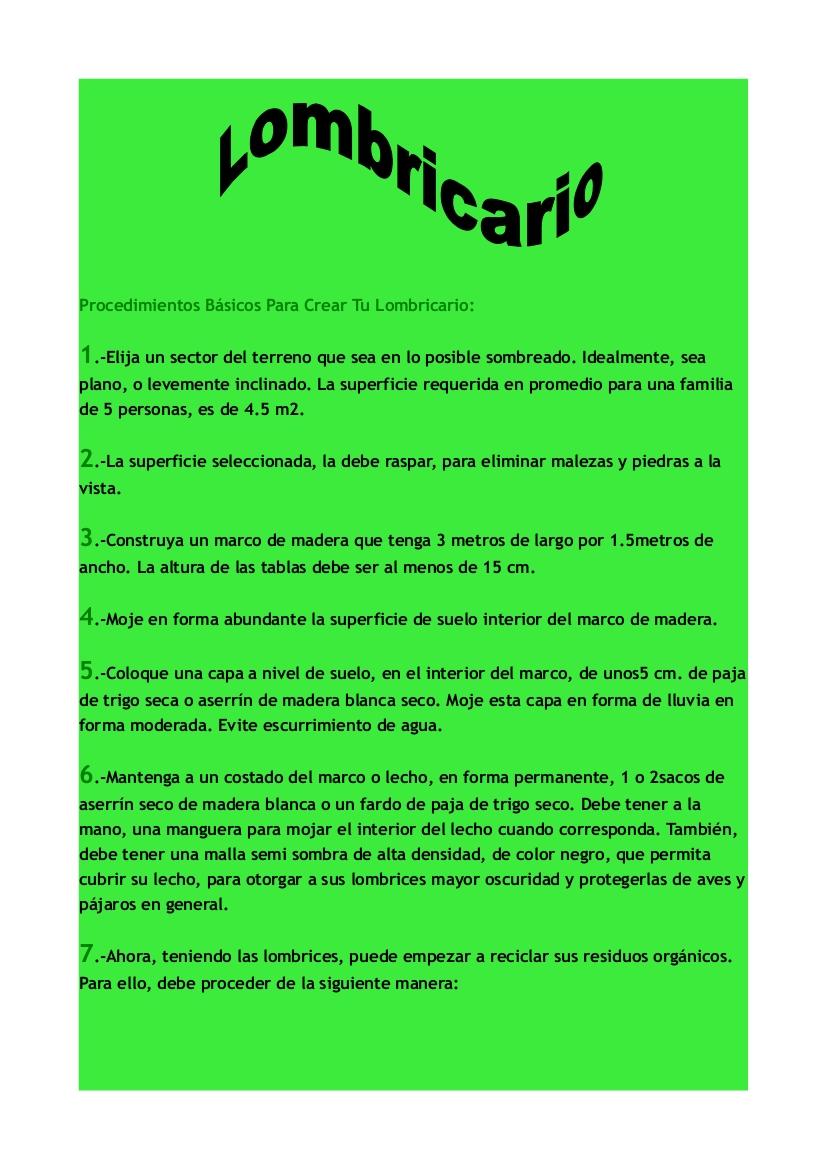 Informatiquisimo2013: Lombricario