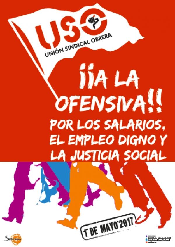 USO celebra el 1º Mayo en Oviedo
