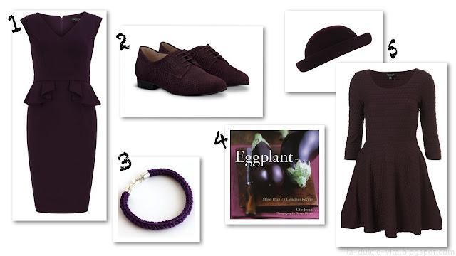 autumn winter fall trend aubergine purple fashion