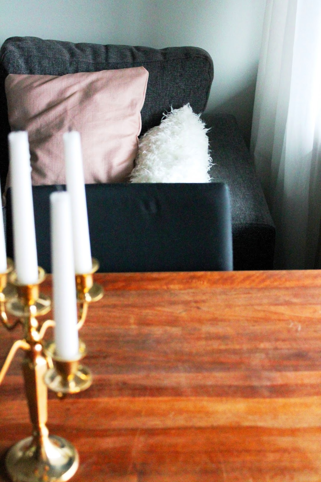 Decoration in livingroom   Alinan kotona blog #pillowmakeover #pillowcase #home #decor #DIY #livingroom #gold #candles