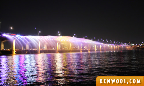 banpo bridge fountain 3