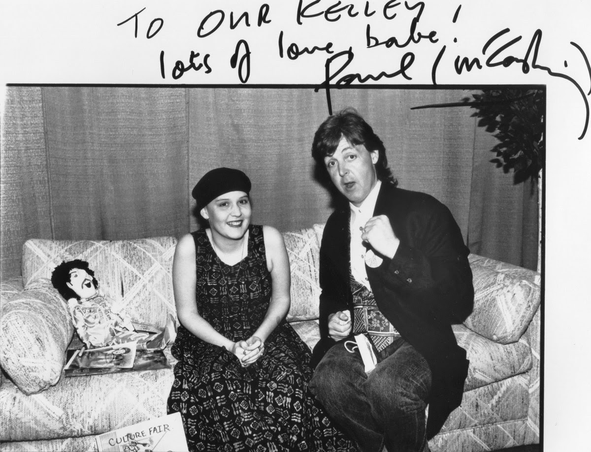 Paul McCartney And The Girl In Black Beret