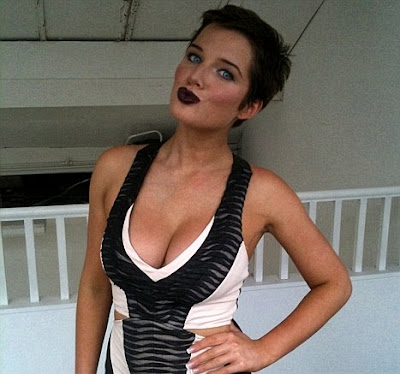 Helen Flanagan new look hair and cleavage