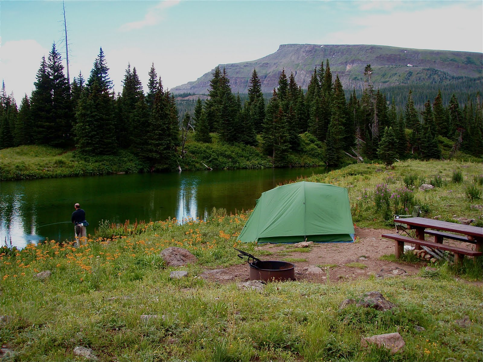 One day in america cold springs campground in colorado 39 s for Camping and fishing in colorado
