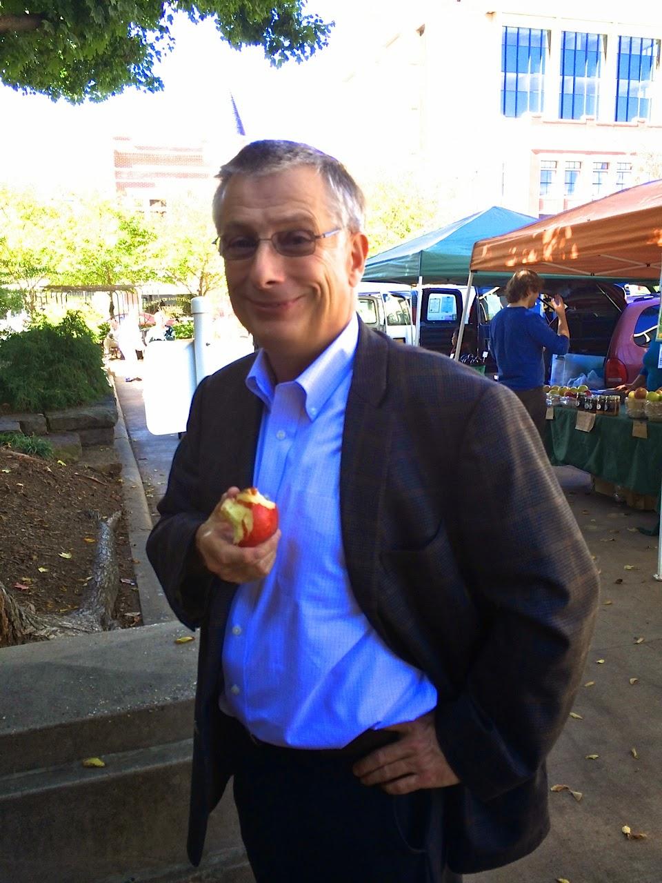 Allen Olson at Fayetteville Farmers' Market
