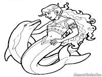 Putri Duyung Dan Ikan Lumba-Lumba