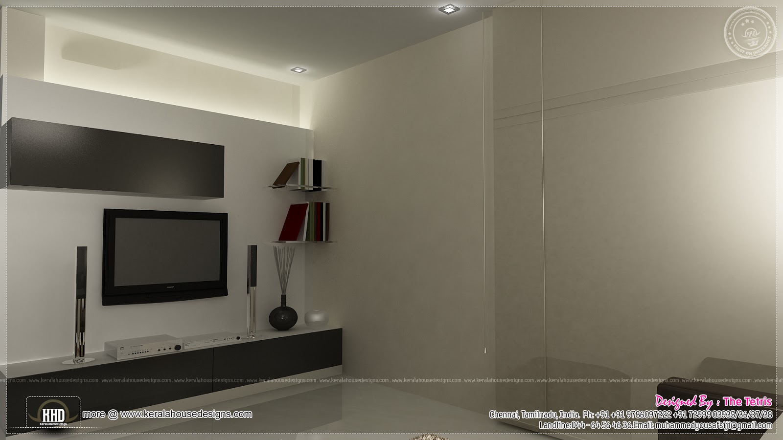 interior design renderings by tetris architects chennai home kerala plans. Black Bedroom Furniture Sets. Home Design Ideas