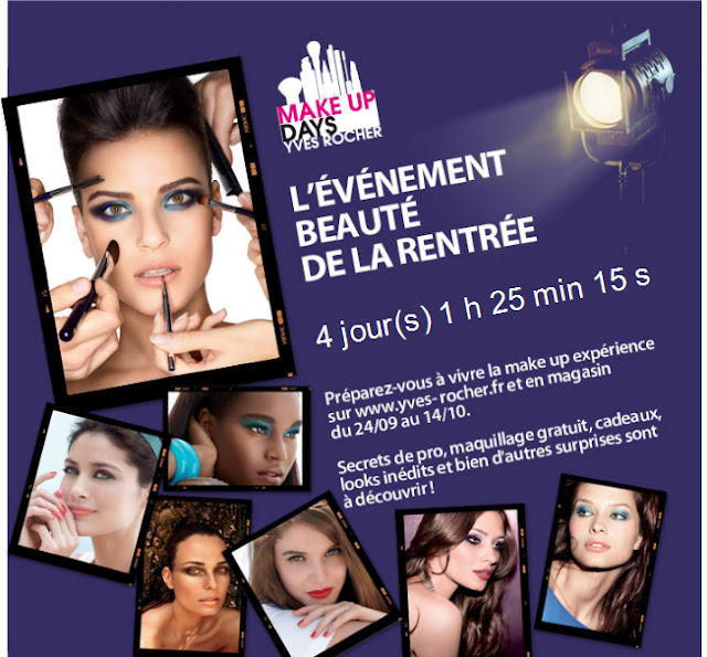 Les MAKE UP DAYS gratuits Yves Rocher