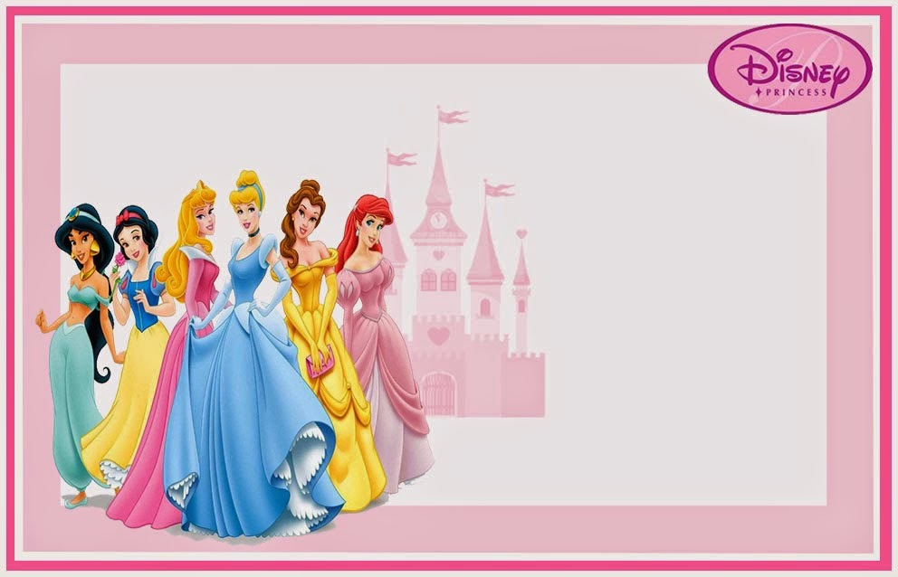 Disney Princess Free Printable Invitations or Photo Frames – Disney Princess Printable Birthday Cards