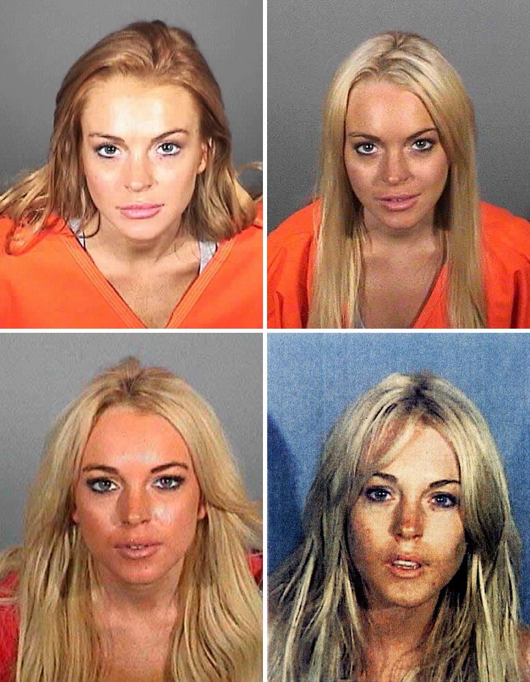 Lindsay Lohan Before and After Drugs Images