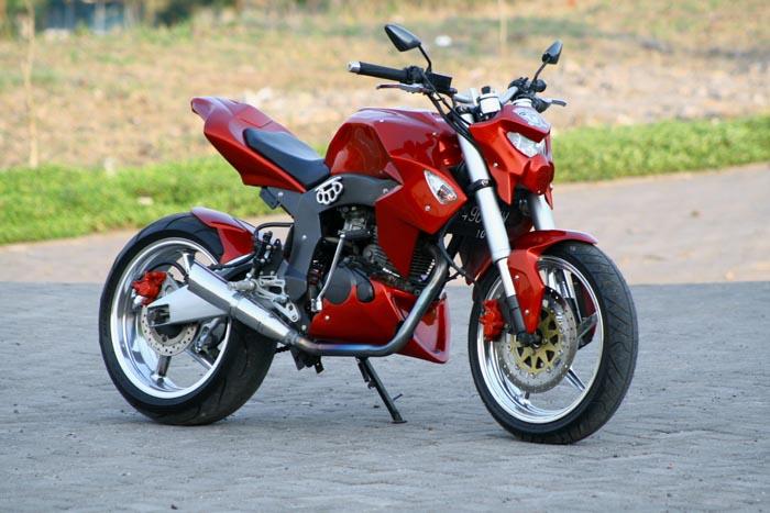 Gambar modifikasi Honda Tiger Street Fighter yang say maksud dari  title=