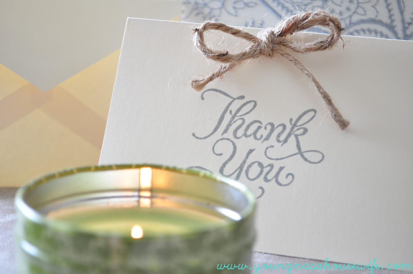 Young NASA Housewife: DIY Wedding Thank You Cards {Budget Friendly + ...
