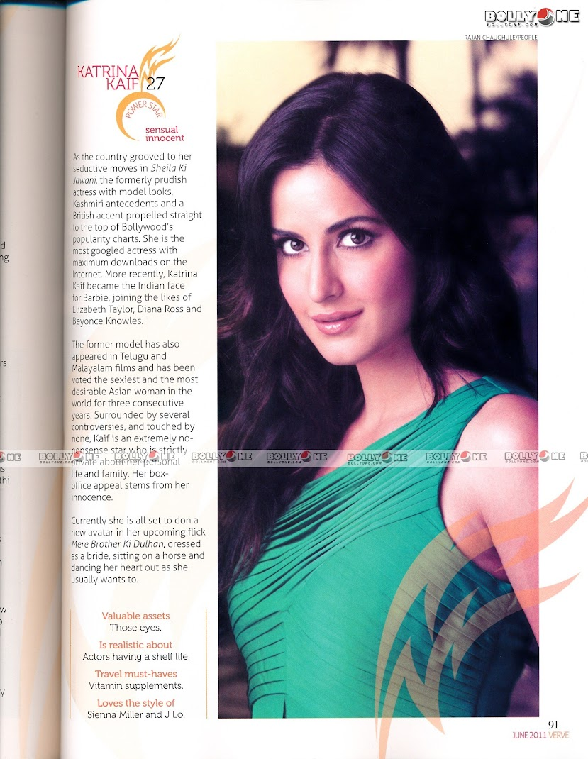 Katrina Kaif Hot VERVE Magazine June 2011  Scan