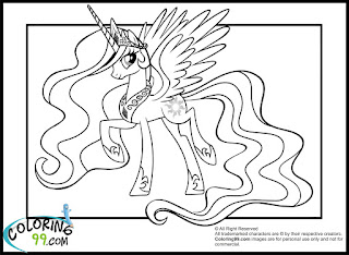 mlp princess celestia coloring pages for kids