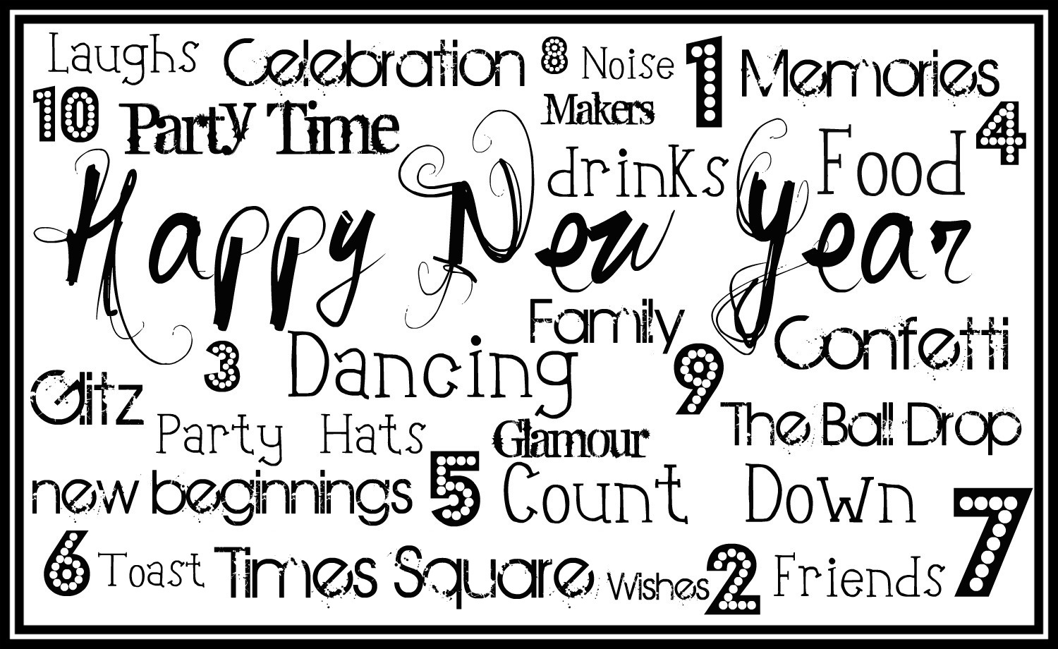 now that the holiday has passed it is time to think new years here is a free subway art printable to get your party decor started