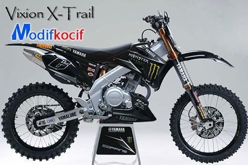 Modifikasi Motor Yamaha Trail Vixion