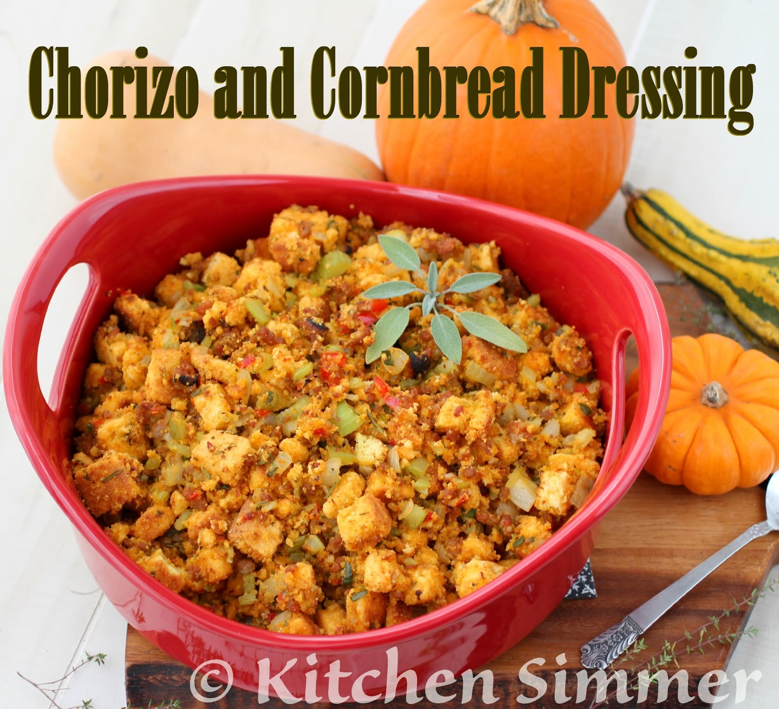 Kitchen Simmer: Chorizo and Cornbread Dressing (Stuffing)