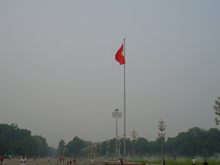 Vietnamese flag at Ho Chi Minh mausoleum