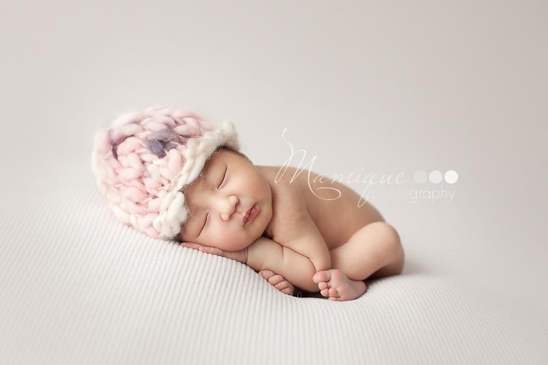infant folded like a taco