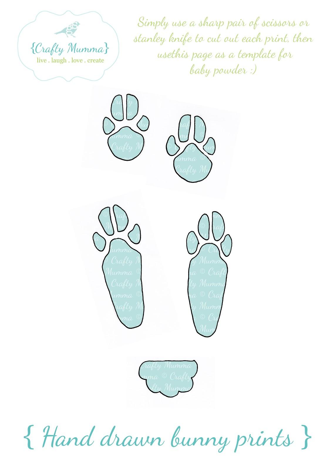 crafty mumma easter bunny footprints