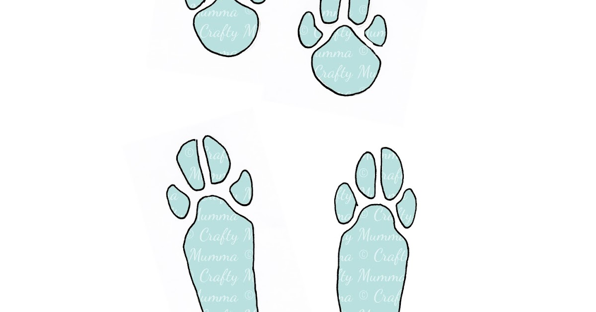 Crafty mumma easter bunny footprints for Bunny feet template printable