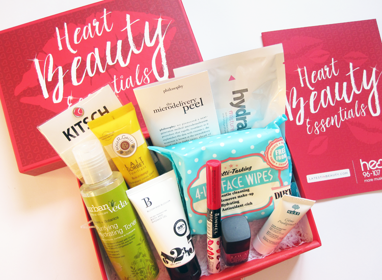 Latest In Beauty - Heart Beauty Essentials Box review