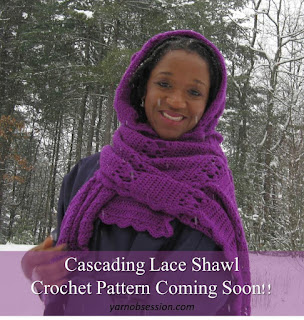 Cascading Lace Crochet Lace Shawl Pattern
