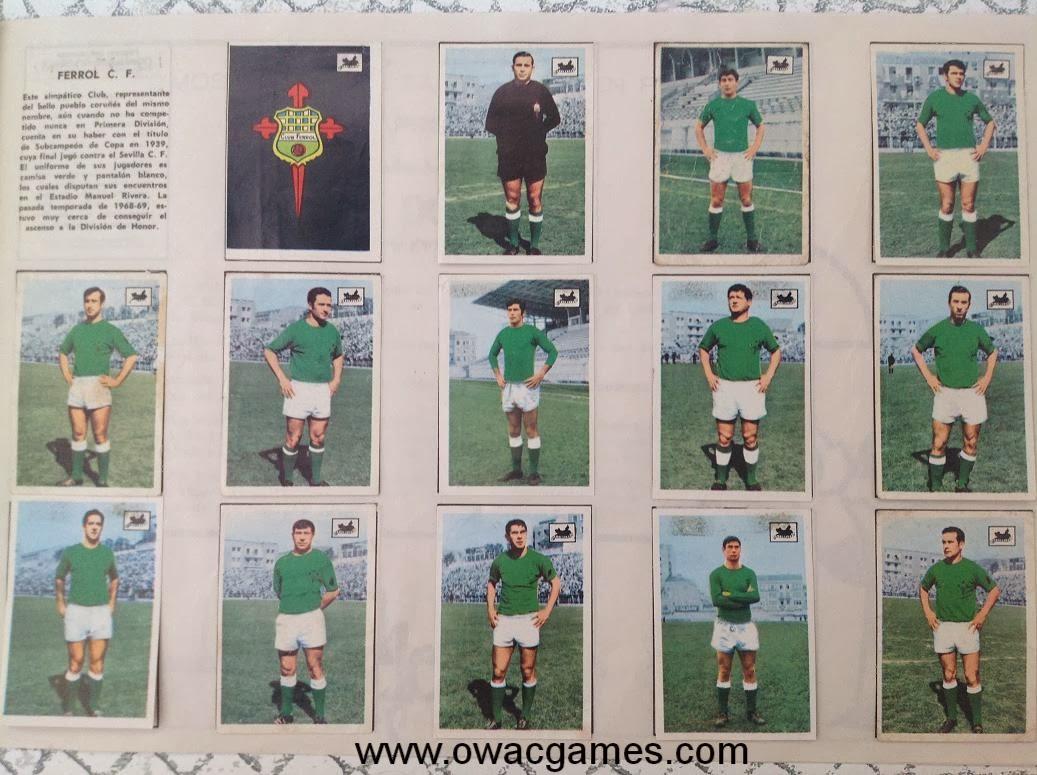 Ferrol C.F. 1969-70 Chocolates La Cibeles