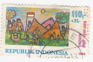 Perangko Hari Anak Nasional 1984 Rp 110