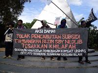BBM Naik : Tinggalkan Demokrasi, Tegakkan Khilafah