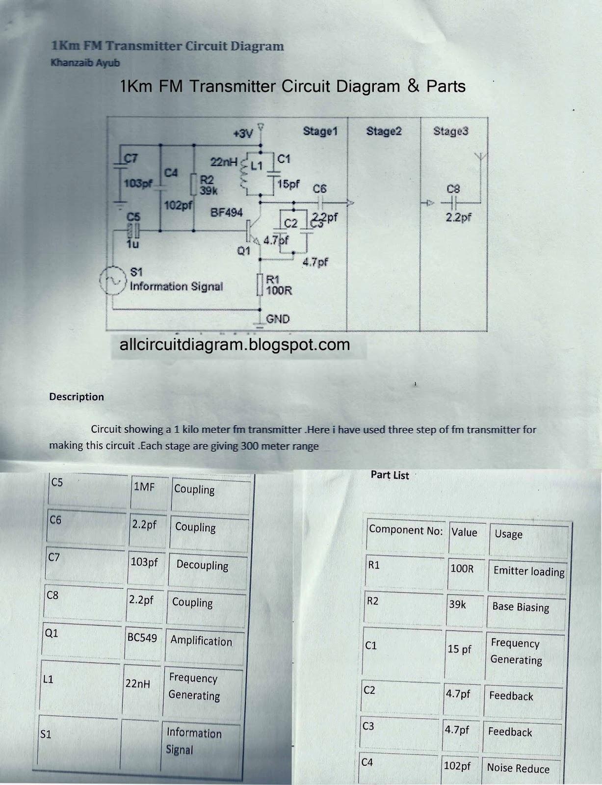 750m Fm Transmitter Circuit Diagram Bfy 50 Gallery Of Electronic Solar 1km