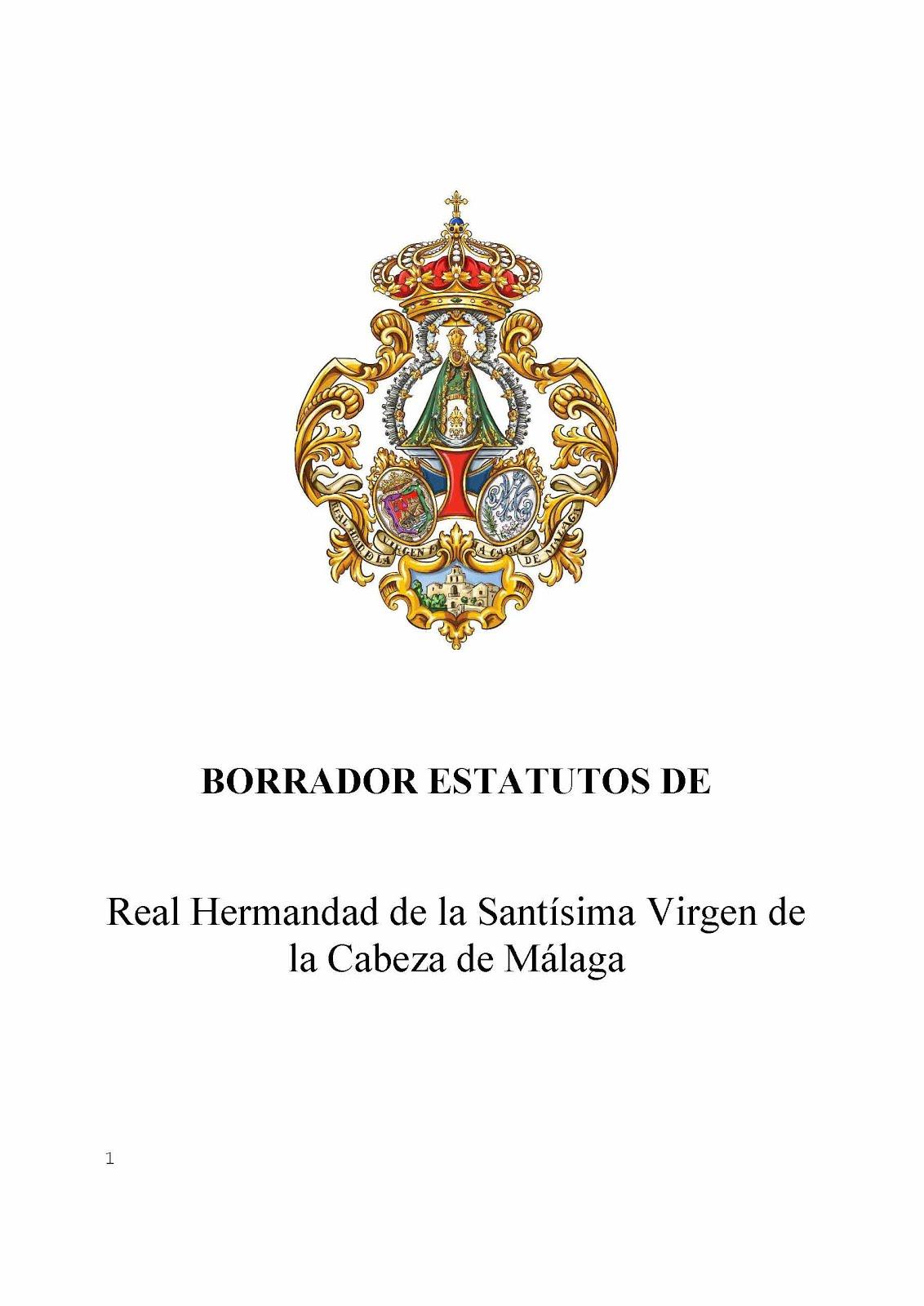 BORRADOR NUEVOS ESTATUTOS REAL HERMANDAD