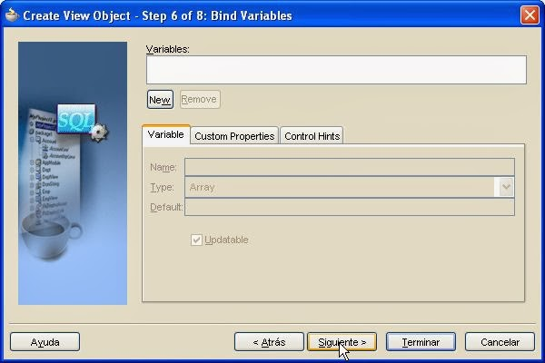 bind variables parametros