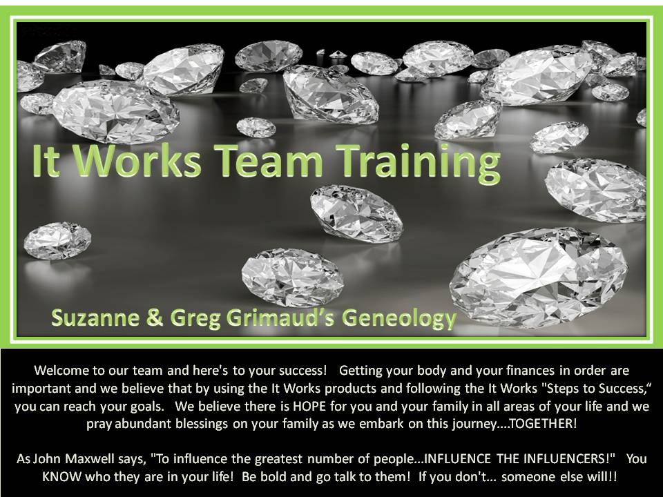 Suzanne's It Works Team Training Site