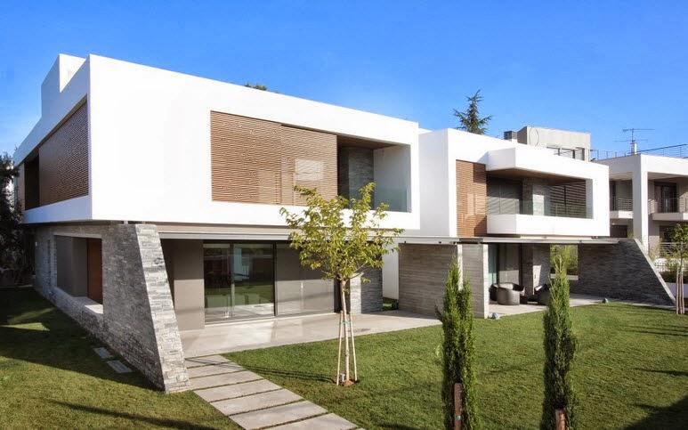 Dise o de dos casas modernas en un s lo terreno planos y Casas modernas precio construccion