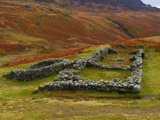 Roman bath house, Hardknott Pass, explore Roman Britain