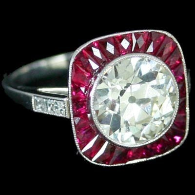Antique Diamond Onyx Mourning Ring