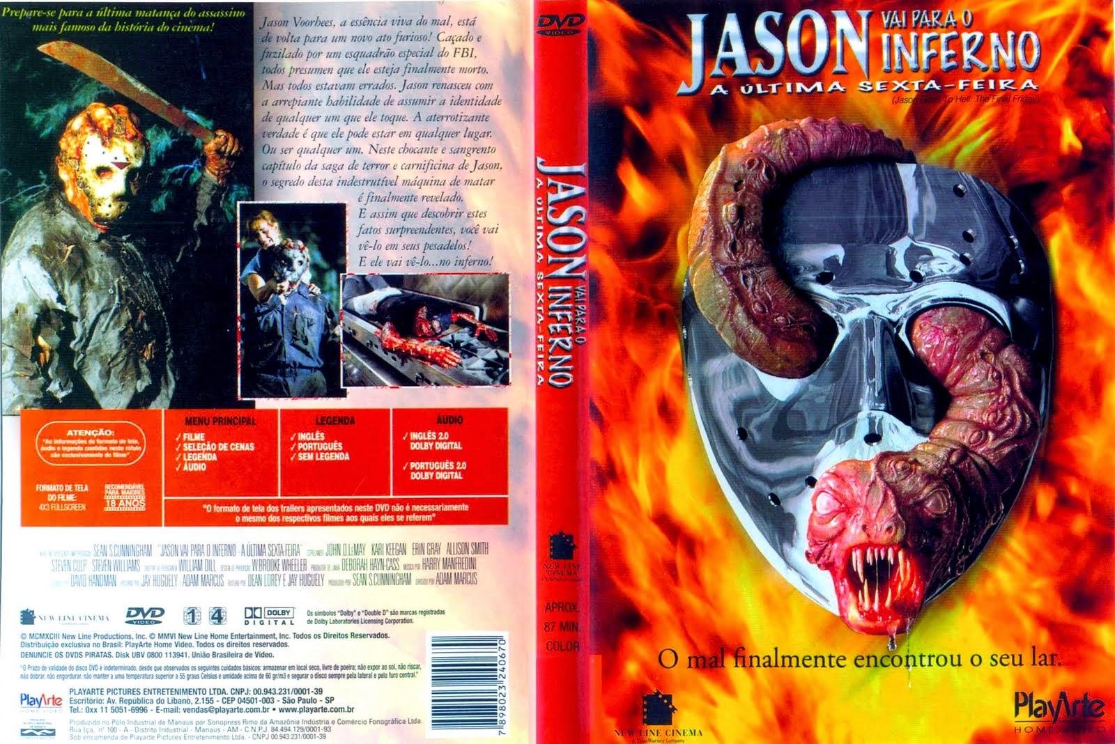Sexta-Feira 13 Parte 9 Jason Vai Para O Inferno DVD Capa