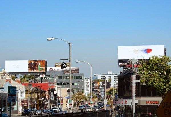 Buscemi luxury sneakers billboards Sunset Strip