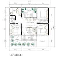 koleksi denah rumah minimalis+ukuran