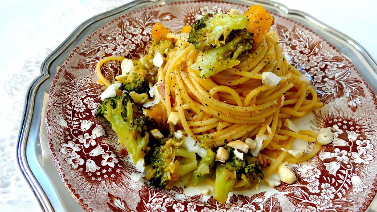 Autunno, zucca, broccoli, ragù