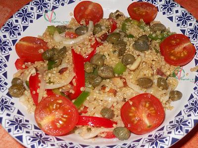 Ensalada tibia de quinoa.