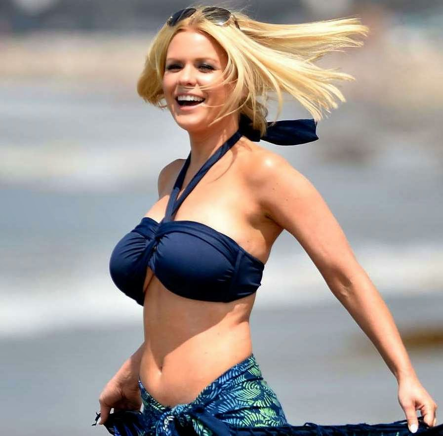 Carrie Keagan bikini top in Santa Monica