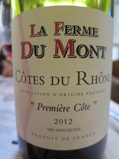 La Ferme Du Mont Première Côte 2012 - AC Côtes du Rhône, France (88 pts)