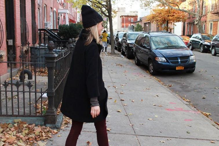 Helmut Lang knit Joe Fresh coat Rag & Bone cords Brooklyn fall